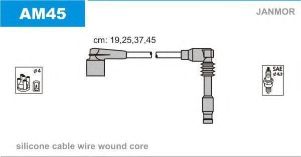 Провода высоковольтные комплект JANMOR AM45
