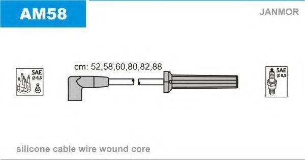 Комплект проводов зажигания JANMOR AM58