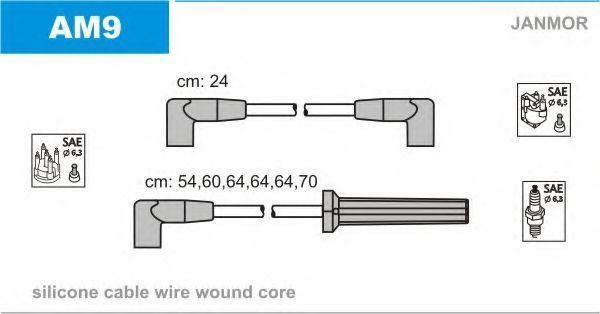 Комплект проводов зажигания JANMOR AM9