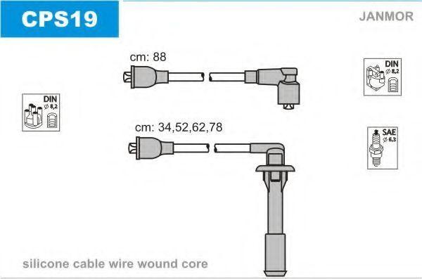 Комплект проводов зажигания JANMOR CPS19