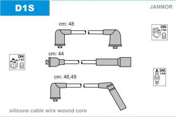 Провода высоковольтные комплект JANMOR D1S