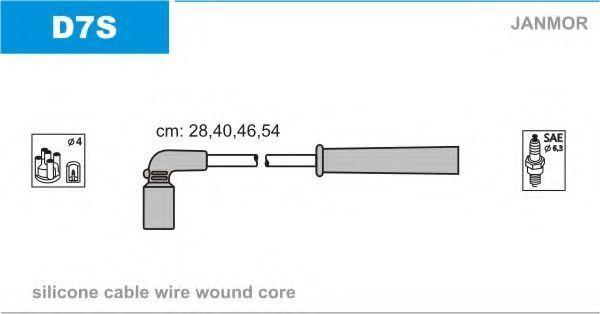Провода высоковольтные комплект JANMOR D7S
