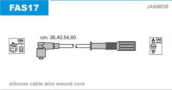 Провода высоковольтные комплект JANMOR FAS17