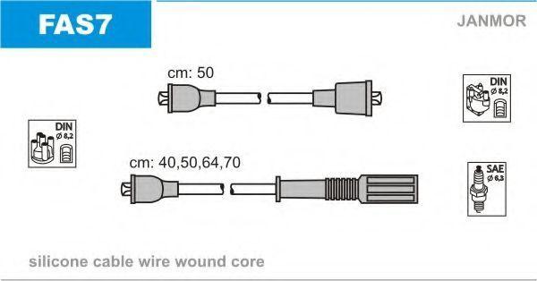 Провода высоковольтные комплект JANMOR FAS7