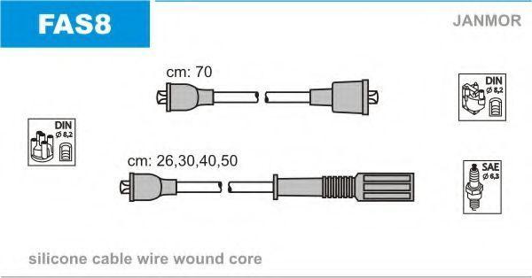 Провода высоковольтные комплект JANMOR FAS8