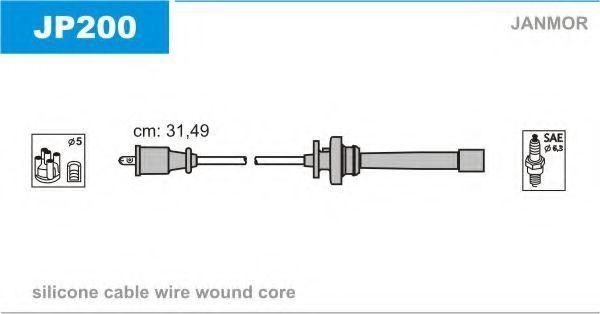 Провода высоковольтные комплект JANMOR JP 200