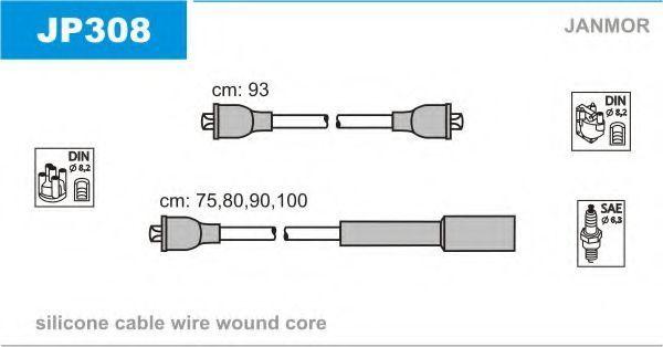 Провода высоковольтные комплект JANMOR JP308
