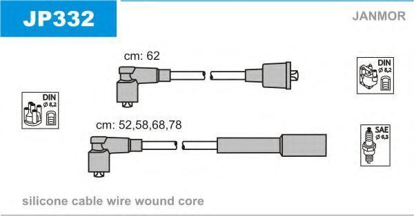 Провода высоковольтные комплект JANMOR JP332