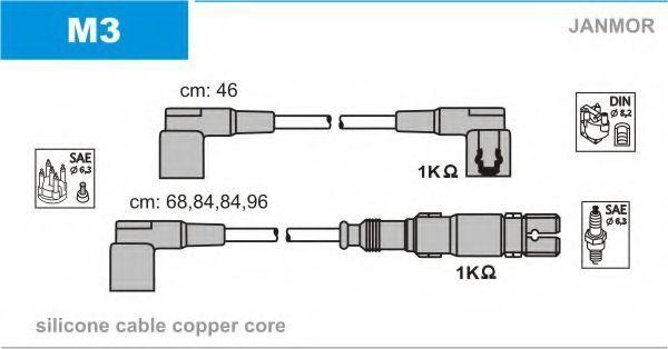 Провода высоковольтные комплект JANMOR M3