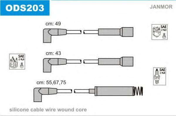 Провода высоковольтные комплект JANMOR ODS203