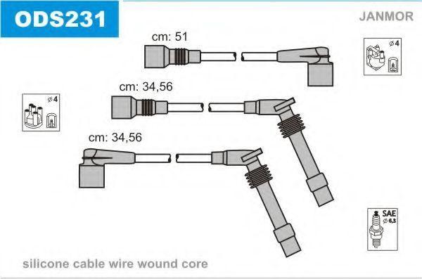 Провода высоковольтные комплект JANMOR ODS231