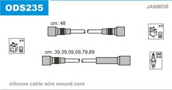 Провода высоковольтные комплект JANMOR ODS235
