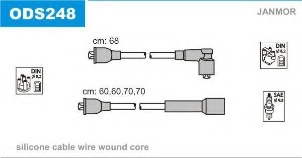 Провода высоковольтные комплект JANMOR ODS248
