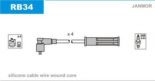 Провода высоковольтные комплект JANMOR RB34