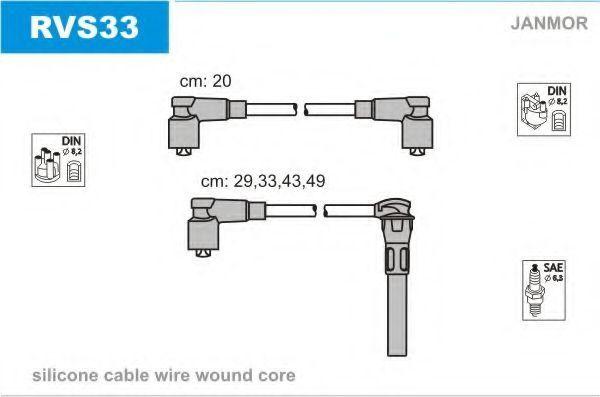 Провода высоковольтные комплект JANMOR RVS33