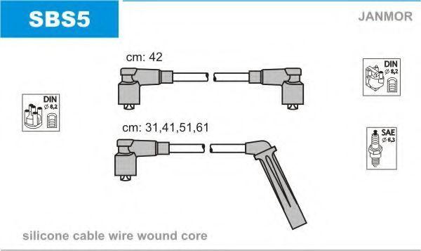 Провода высоковольтные комплект JANMOR SBS5