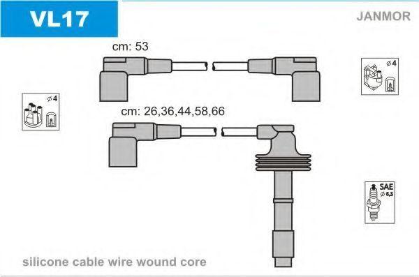 Провода высоковольтные комплект JANMOR VL17