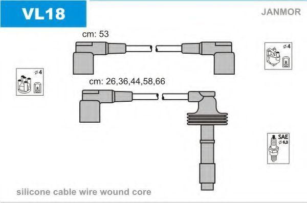 Провода высоковольтные комплект JANMOR VL18