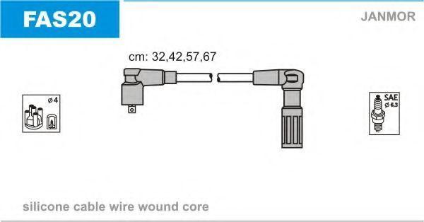 Провода высоковольтные комплект JANMOR FAS20