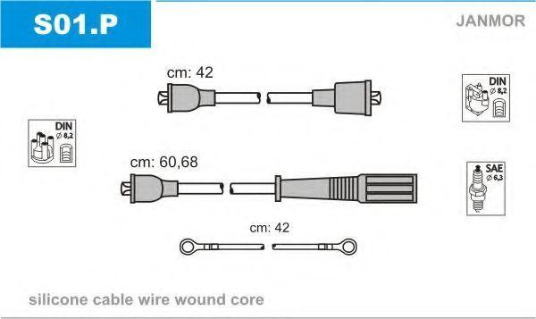 Провода высоковольтные комплект JANMOR S01.P