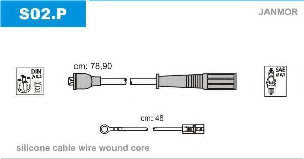 Провода высоковольтные комплект JANMOR S02.P