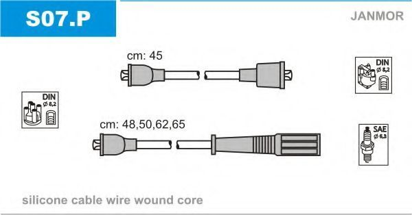 Провода высоковольтные комплект JANMOR S07P