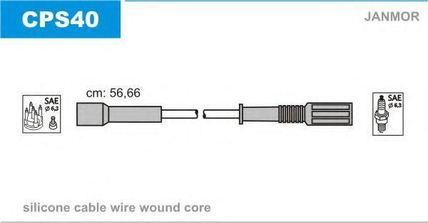 Комплект проводов зажигания JANMOR CPS40
