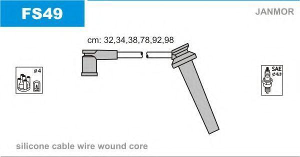 Провода высоковольтные комплект JANMOR FS49