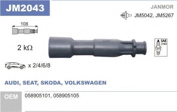 Разъем катушки зажигания JANMOR JM2043