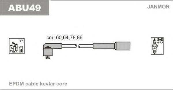 Провода высоковольтные комплект JANMOR ABU49