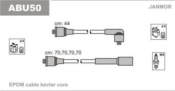 Провода высоковольтные комплект JANMOR ABU50