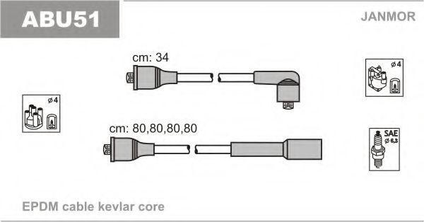 Провода высоковольтные комплект JANMOR ABU51
