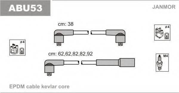 Провода высоковольтные комплект JANMOR ABU53