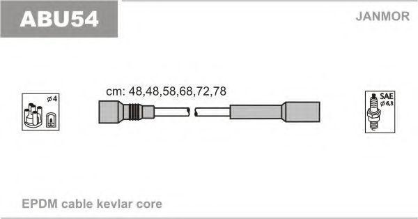 Провода высоковольтные комплект JANMOR ABU54