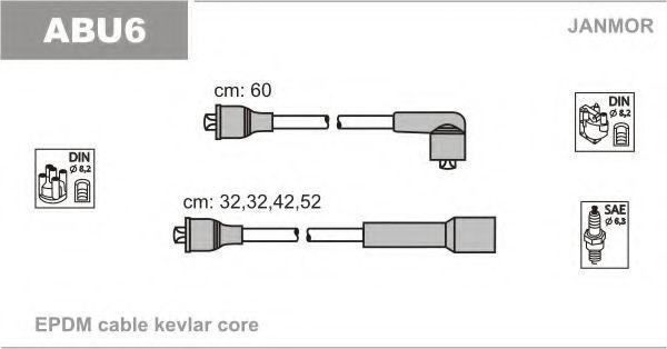Провода высоковольтные комплект JANMOR ABU6
