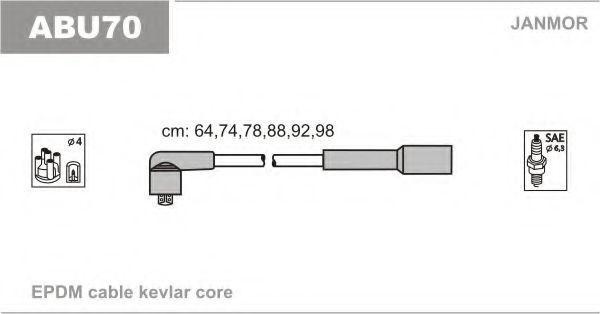 Провода высоковольтные комплект JANMOR ABU70