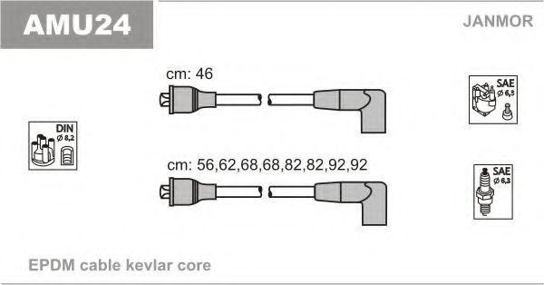 Комплект проводов зажигания JANMOR AMU24