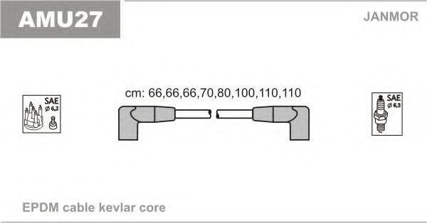 Комплект проводов зажигания JANMOR AMU27