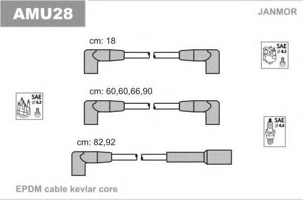 Комплект проводов зажигания JANMOR AMU28