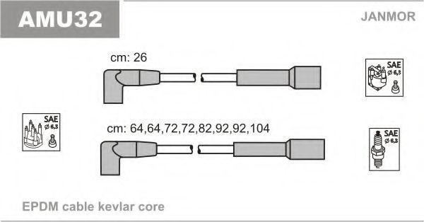 Комплект проводов зажигания JANMOR AMU32