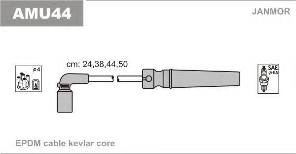 Провода высоковольтные комплект JANMOR AMU44