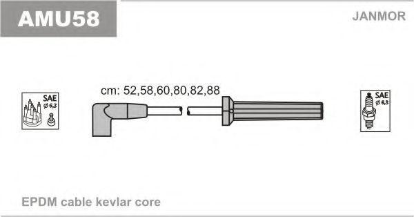 Комплект проводов зажигания JANMOR AMU58