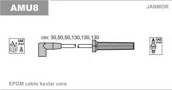 Комплект проводов зажигания JANMOR AMU8