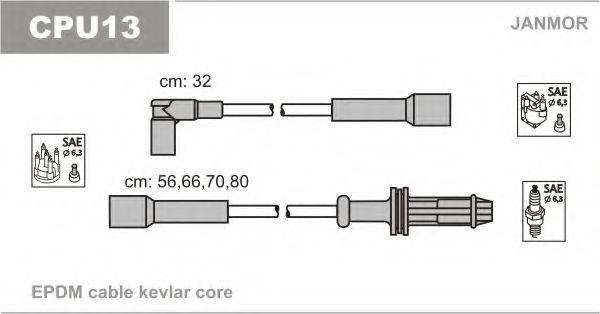Провода высоковольтные JANMOR CPU13