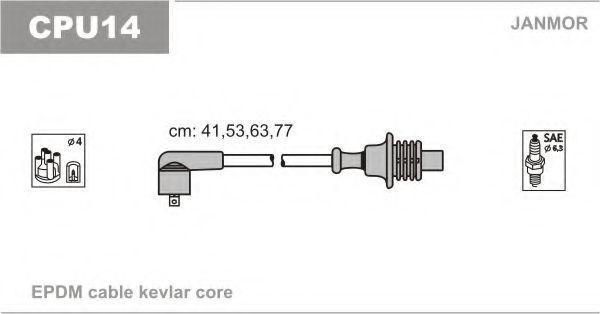 Провода высоковольтные комплект JANMOR CPU14