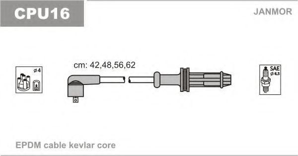 Провода высоковольтные комплект JANMOR CPU16