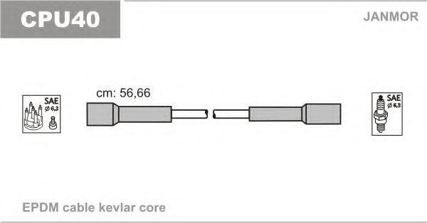 Комплект проводов зажигания JANMOR CPU40