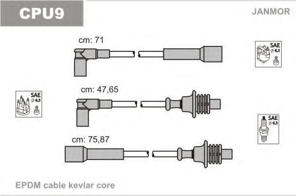 Провода высоковольтные комплект JANMOR CPU9