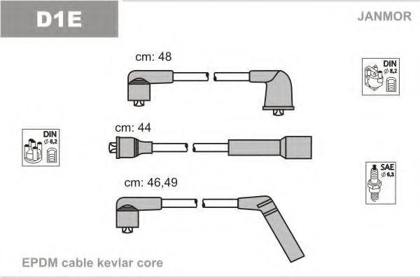 Провода высоковольтные комплект JANMOR D1E