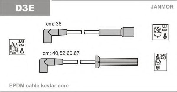Провода высоковольтные комплект JANMOR D3E